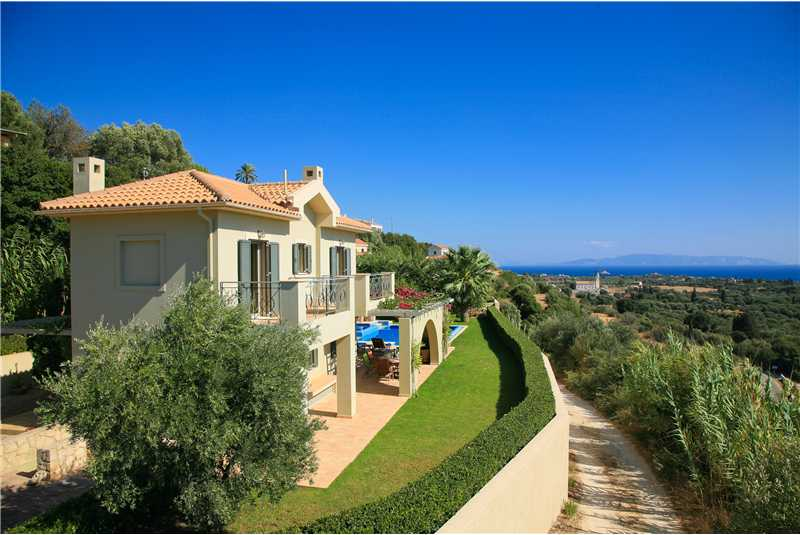Villa Alexandra wonderful views with Zante in the back ground