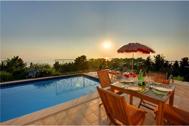 Villa Hilltop sunset from the swimming pool